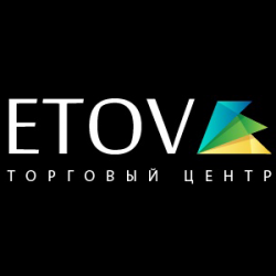 Logo for online shopping center ETOV