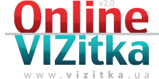 A service for creating business cards online \Online Vizitka\